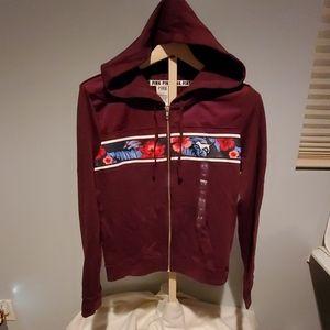NWT Victoria Secret PINK Maroon hoodie size large
